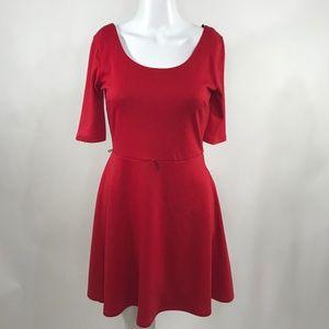 Sapphire Dollz Short Sleeve Red Skater Style Dress